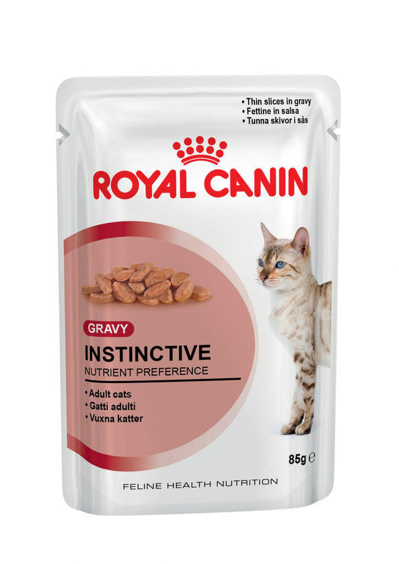 Royal Canin Pouches Instinctive Gravy Cat Food 85g