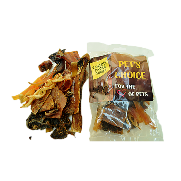 Ostrich treats Variety pack 500g