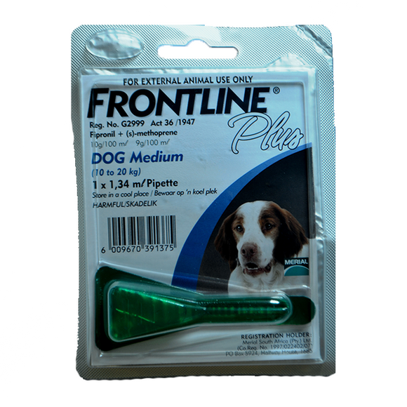 Frontline Plus Dogs Medium 10-20kg