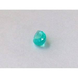 Brazilian Paraiba Tourmaline green-blue color pear shape 0.88 carats with GIA Report