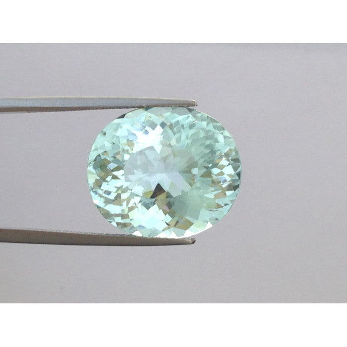 Copper Bearing Paraiba Tourmaline greenish blue color oval shape 18.41 carats with GIA Report
