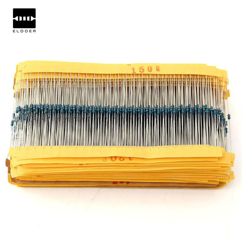 New Arrival Metal Film Resistor 1% 1/8W 0.125W Kit 2425pcs Resistor Assortment Kit Assorted Value Pack