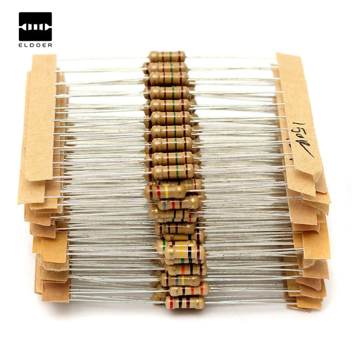 New Electric Unit 300pcs 30value Rang 1ohm-Three Mohm Resistance Resistor 1/2W Power Carbon Film Metal Resistors Assortment Kit
