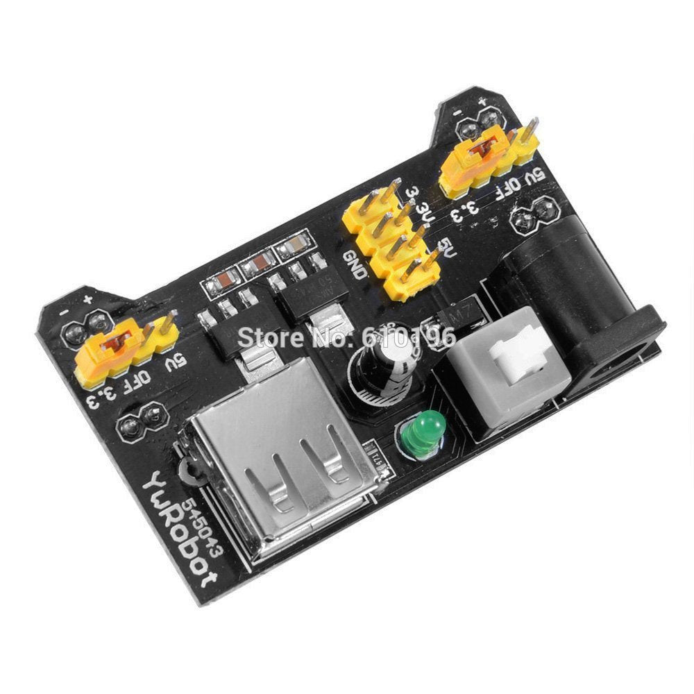 MB102 Breadboard Power Supply Module 3.3V 5V For Arduino Solderless Breadboard Voltage Regulator