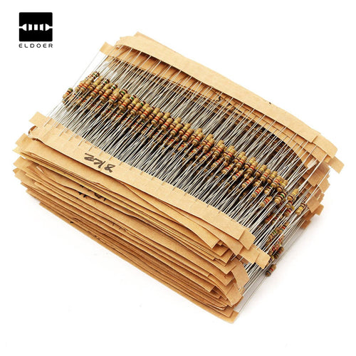 New 1500pcs 1/4W Power Carbon Film Resistors Assorted kit 75Values (1 ohm~ 10M ohm) Resistance 5% Tolerance Resistor Pack