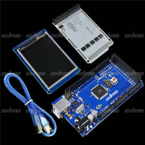 "3.2"" TFT LCD Touch +  3.2 Inch Shield Mega Shield + For Mega2560 R3 with Usb Cable For Arduino"
