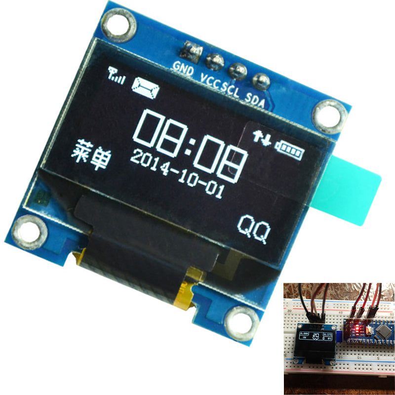 0.96 inch IIC Serial White OLED Display Module 128X64 I2C SSD1306 12864 LCD Screen Board GND VCC SCL SDA 0.96