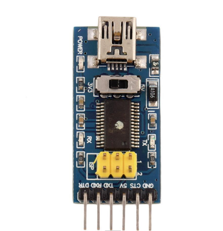 1pc Basic Breakout Board For FTDI FT232RL USB To TTL Serial IC Adapter Converter Module For Arduino 3.3V 5V FT232 Switch