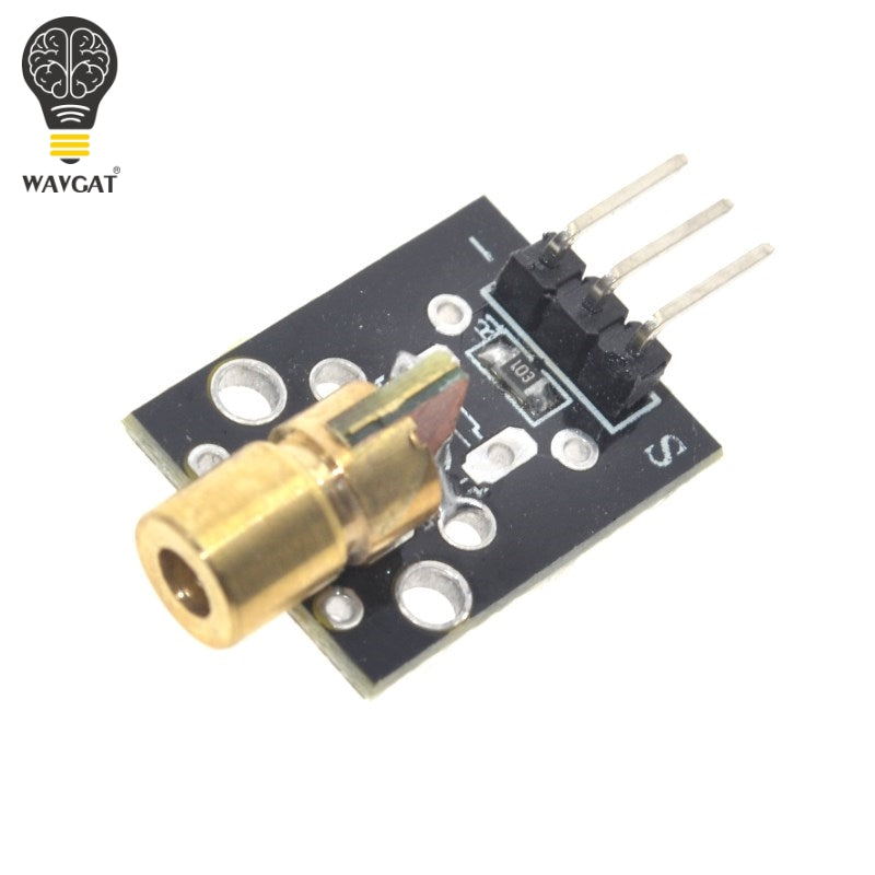 Smart Electronics New KY-008 3pin 650nm Red Laser Transmitter Dot Diode Copper Head Module for Arduino AVR PIC DIY Free Shipping