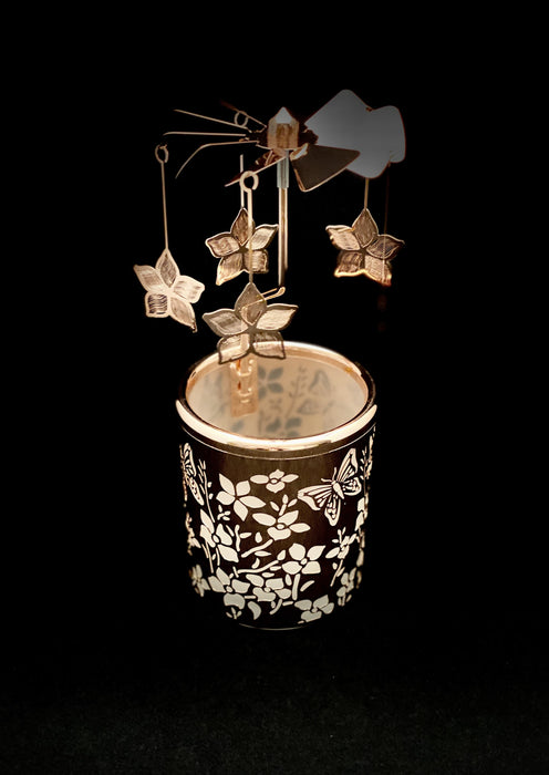Candle Carousel - The Rose Gold Garden