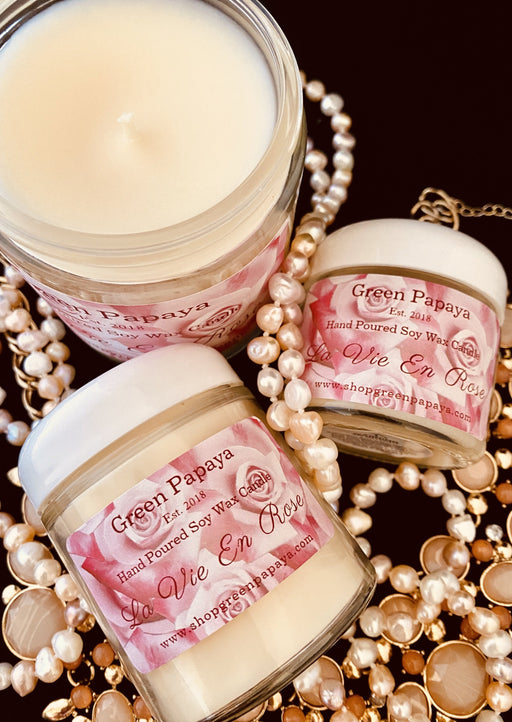 La Vie en Rose Candle