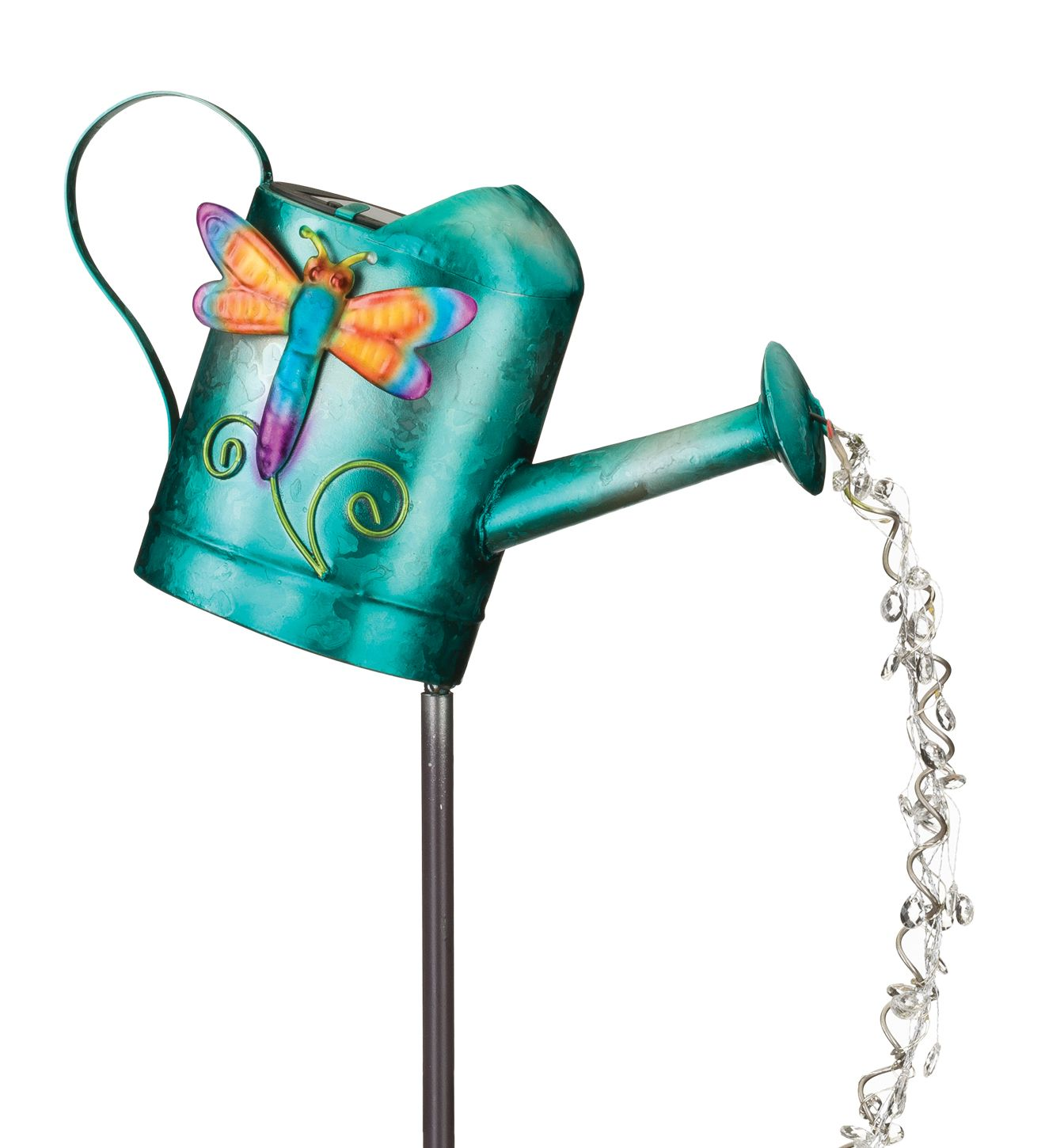 Regal Art & Gift Watering Can Solar Stake - Dragonfly