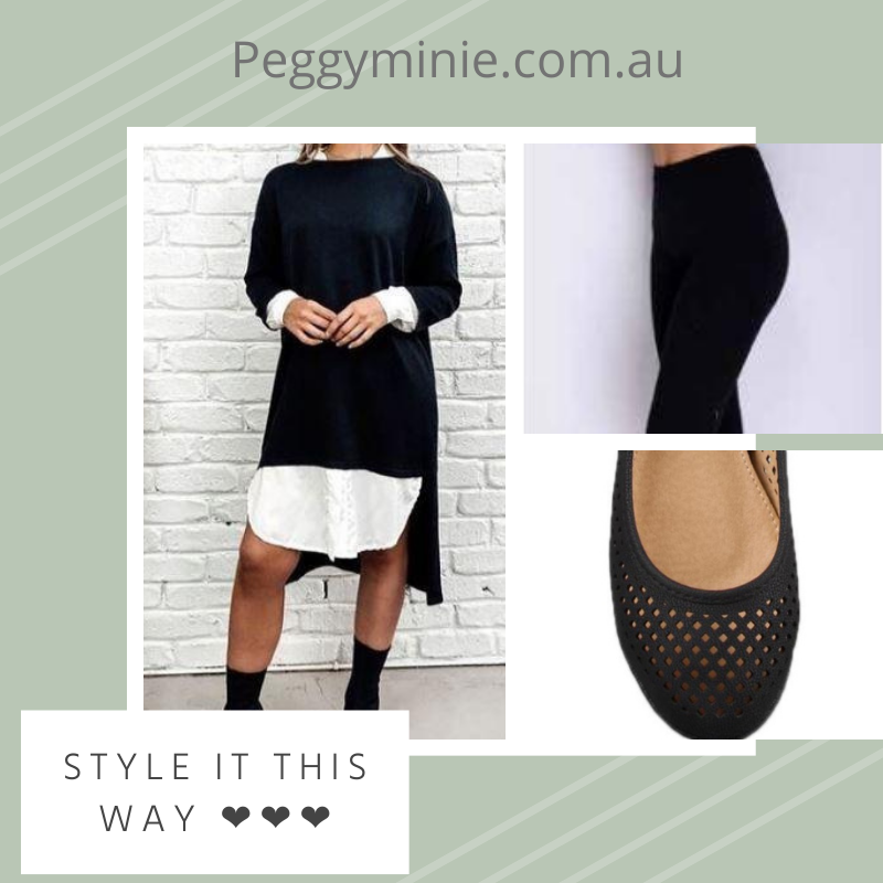 Bagira Black Knit Shirt Dress