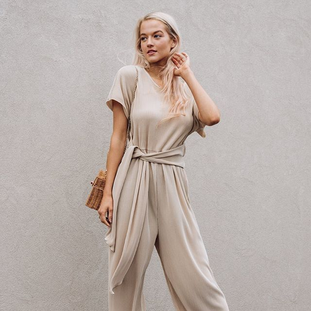 White Closet - Champagne Glossy Jumpsuit