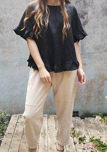 Worthier Beige Linen Pants