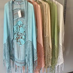 Pink Diamond Blue Boho Cape