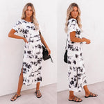 Love Lily The Label Black and White Tie Dye Dress