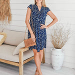 Zen Garden Navy Floral Dress