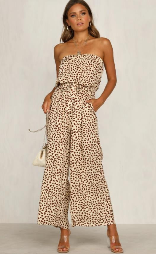 Pink Diamond - Rusty Cheetah Strapless Jumpsuit