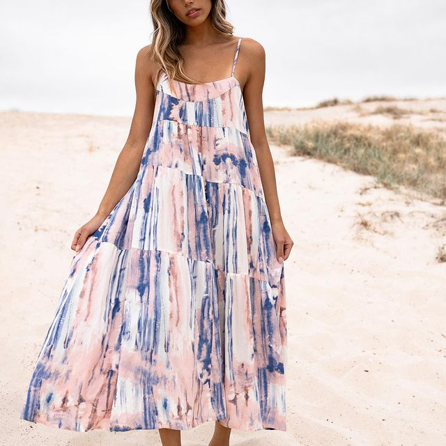 Caro The Label Tie Dye Maxi Dress