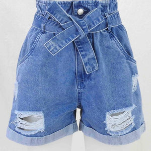 Country Denim Paper Bag Denim Shorts