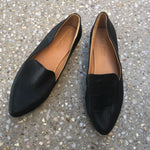 Shoe Shu - Black Leather Pointed Loafer