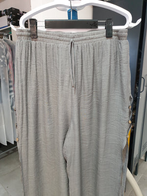 LaMode - Grey Layered Beach Pant