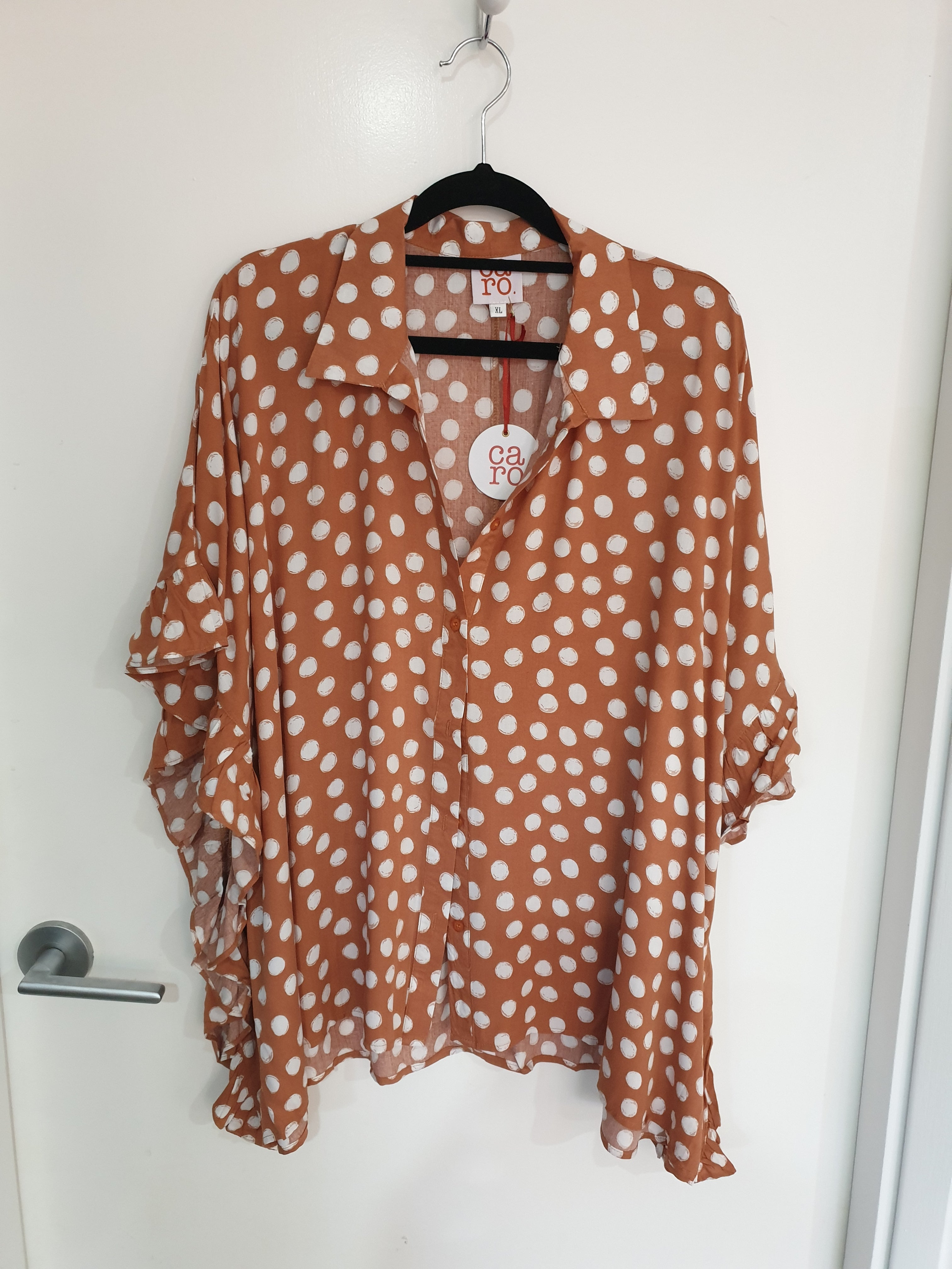 Caro The Lable - Rust Spot Button Up Top