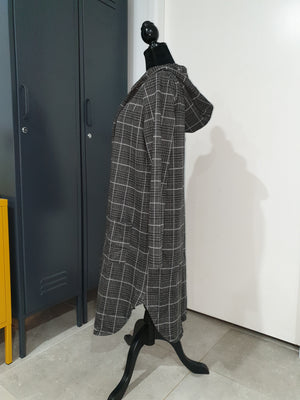 Society Addict Grey Check Hoodie