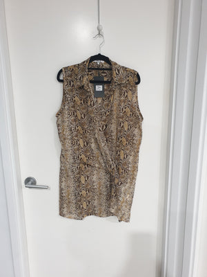 Society Addict - Snake Print Sleeveless Hi-Lo Top