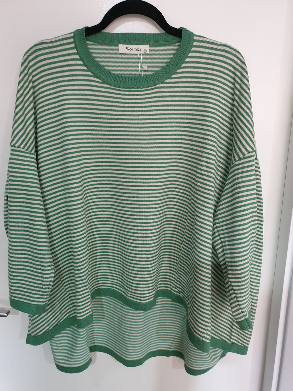 Worthier Mint Green Striped Knit