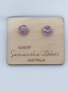 Samantha Abbott Glass - Pink Sparkle
