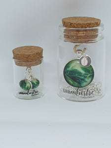 Urban Lustre - Rain Forest Pendant Necklace and Earring Set