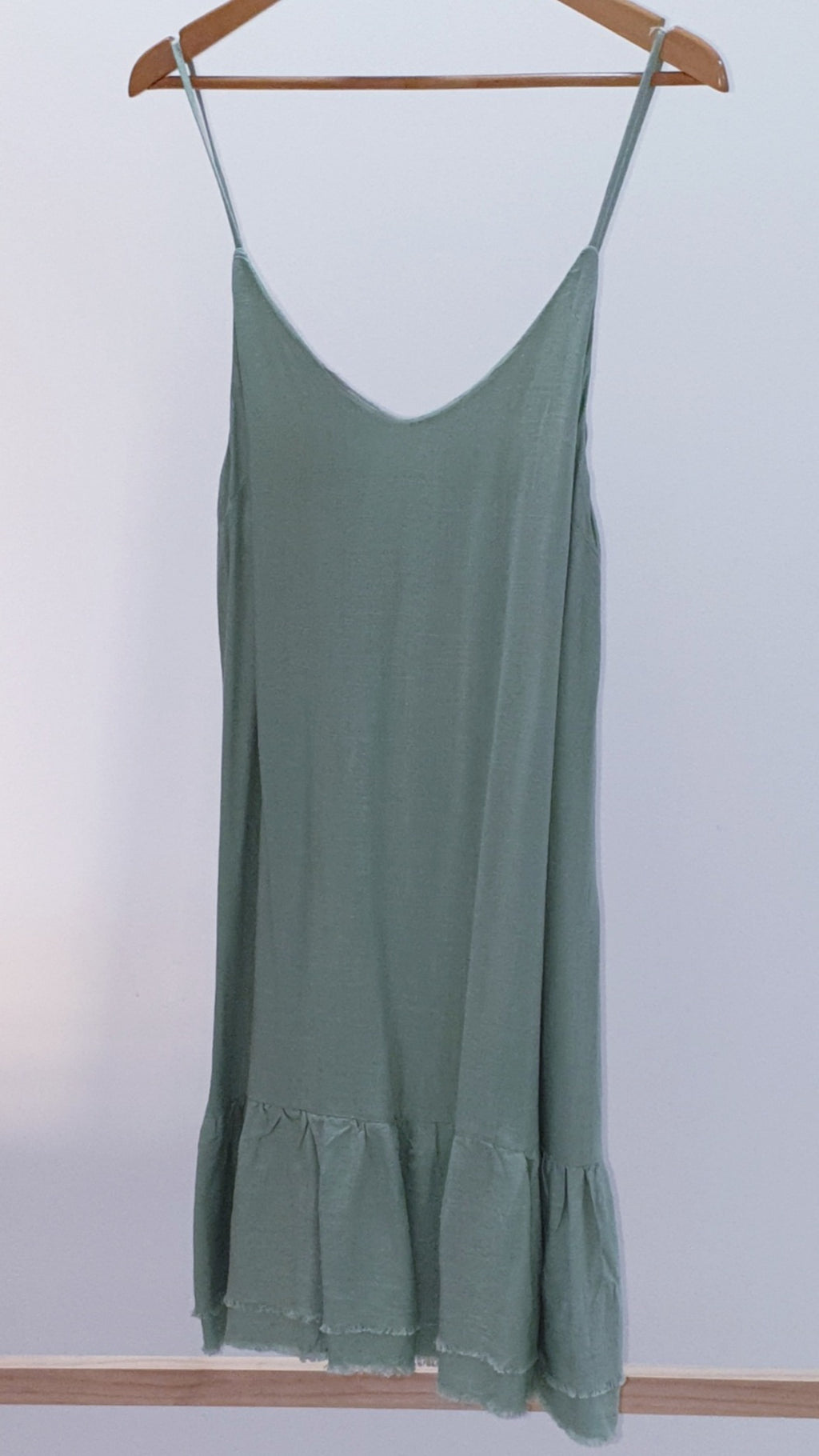 Grace & Co Sage Linen Sun Dress