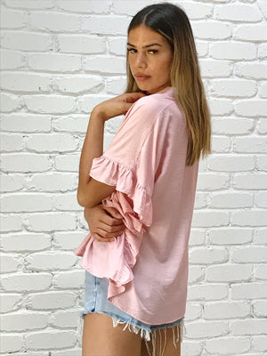 Caro The Lable - Pink Button Up Top