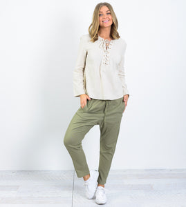 peggy minnie ebby and i khaki drop pants