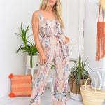 peggy minnie label of love pink jumpsuit