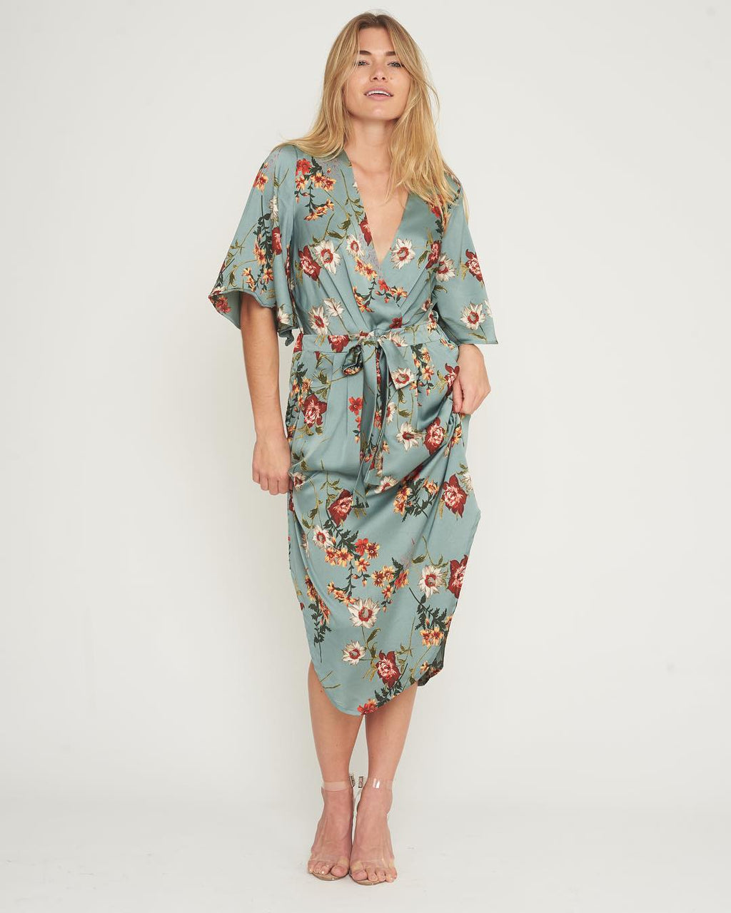 White Closet - Sage Floral Dress