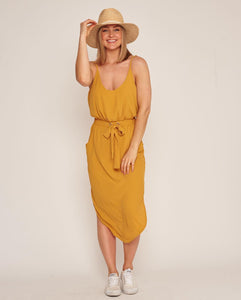 Ebby & I - Summer Dress in Mustard