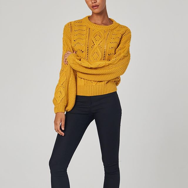 Ebby & I - Mustard Sweater