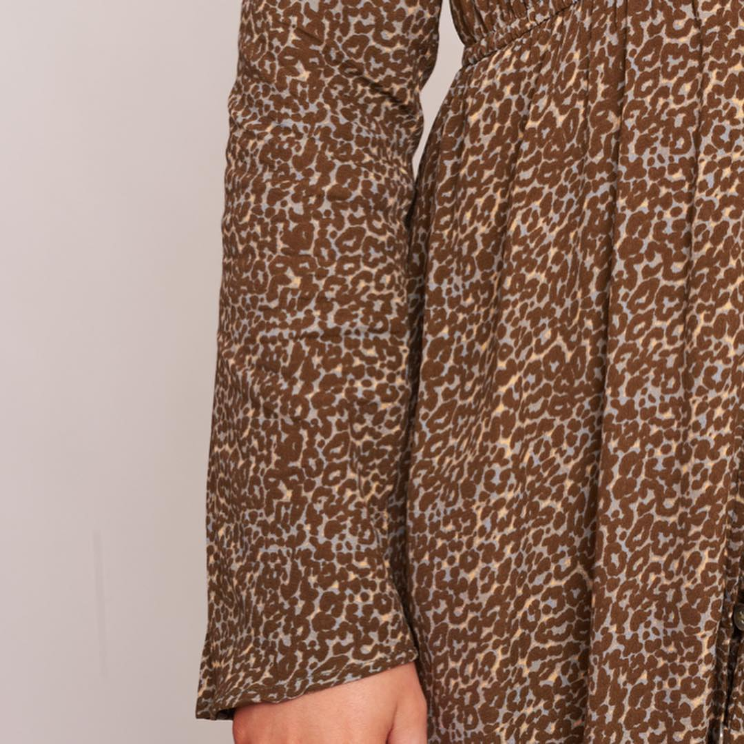 Label of Love - Button Up Leopard Print Dress.