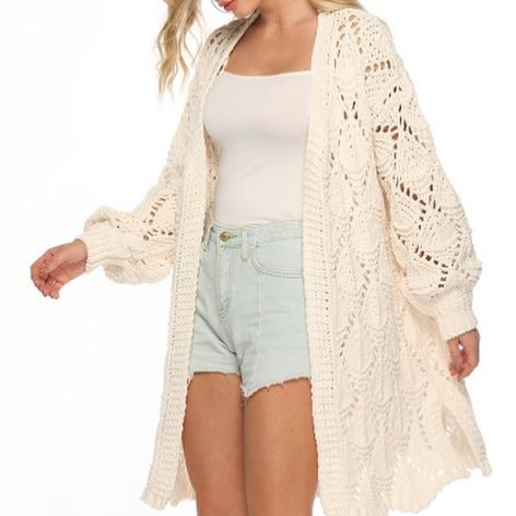 Pink Diamond - Cream Cardi