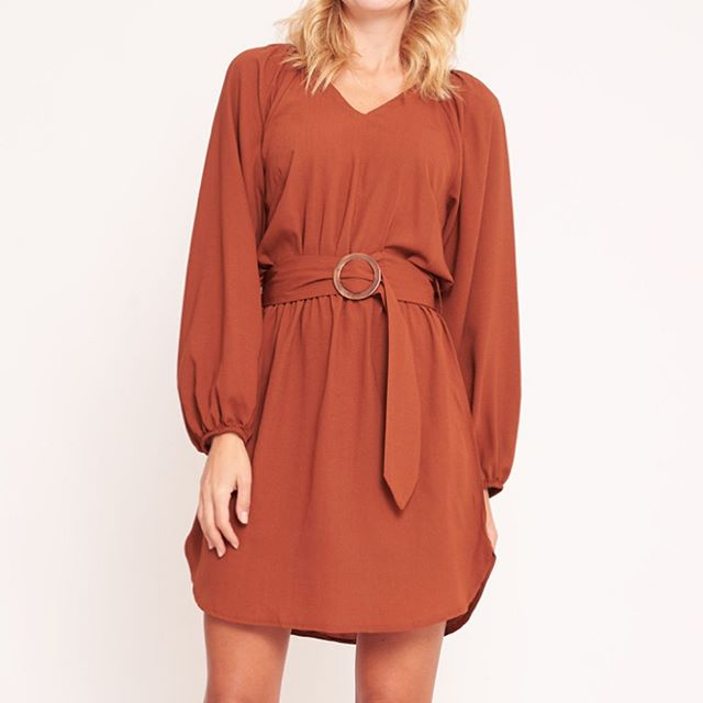 White Closet Copper Long Sleeve Tunic