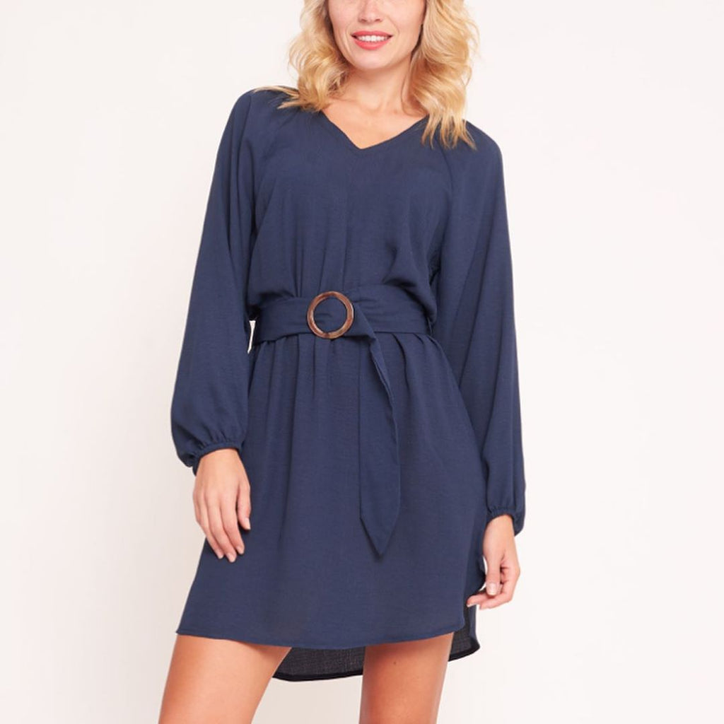 White Closet - Blue Long Sleeve Tunic