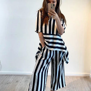 Bagira - Black and White Striped Pants