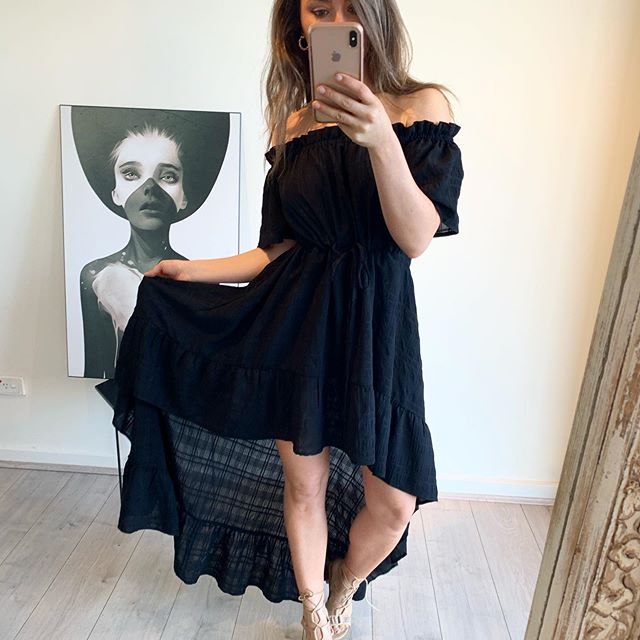 Bagira - Black OTS Hi-Lo Dress