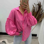 Pink Diamond - Hot Pink Puffy Sleeve Top