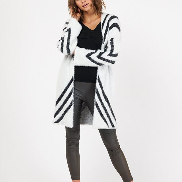 White Closet - White and Black Cardi