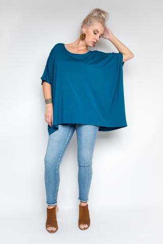 PQ Collection - Premium Bamboo Top in Teal