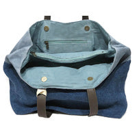 Where The Wilde Things Are - Denim Jute Slouch Shoulder Bag